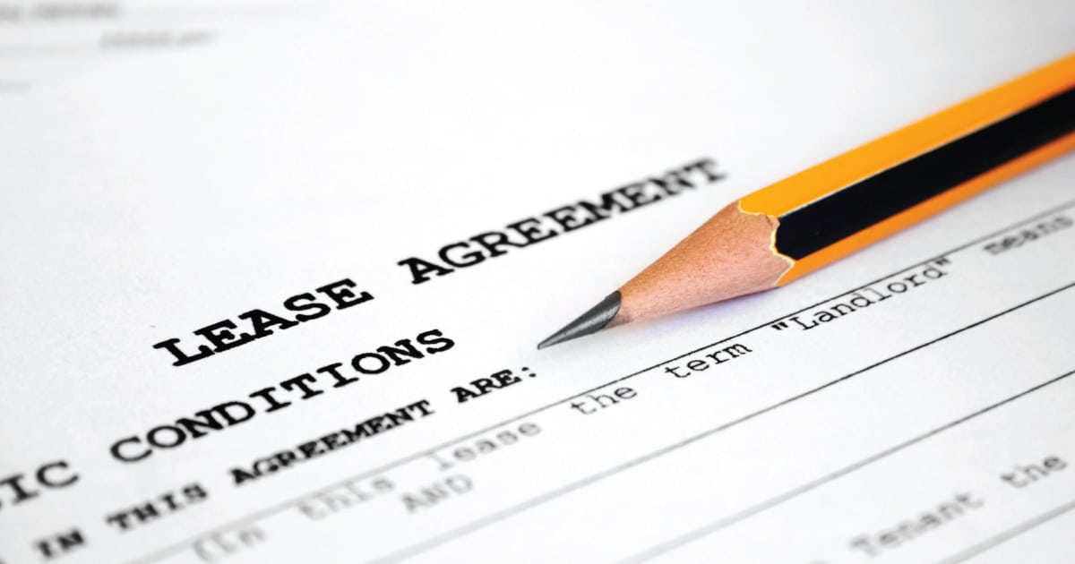 renting first apartment - lease agreement