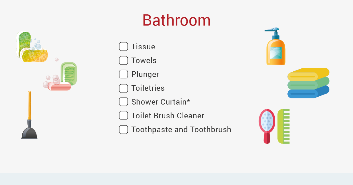 moving out bathroom checklist