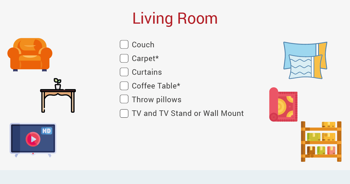 moving out living room checklist